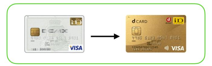 DCMXからdカードGOLDに切り替えする手順
