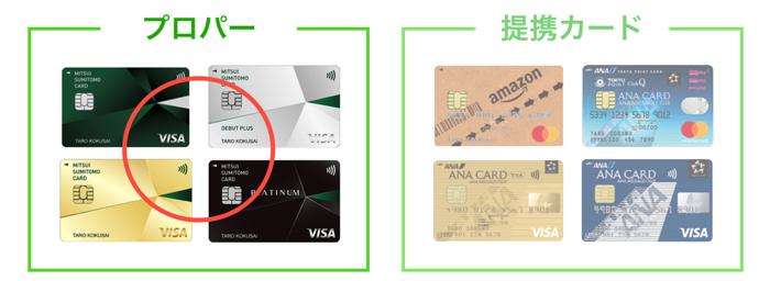 プロバーと提携カードの違い