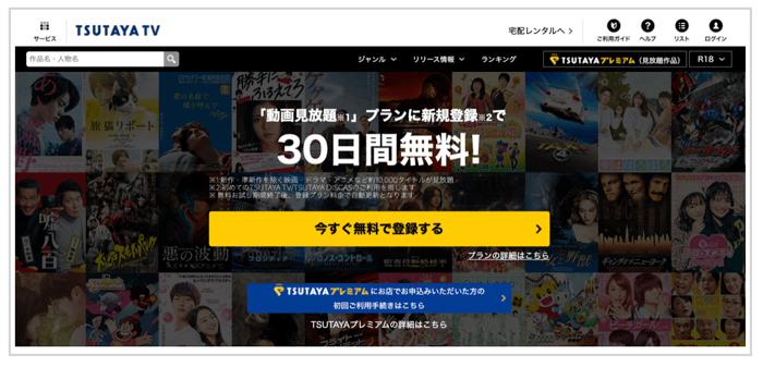 TSUTAYA TVの支払い方法について