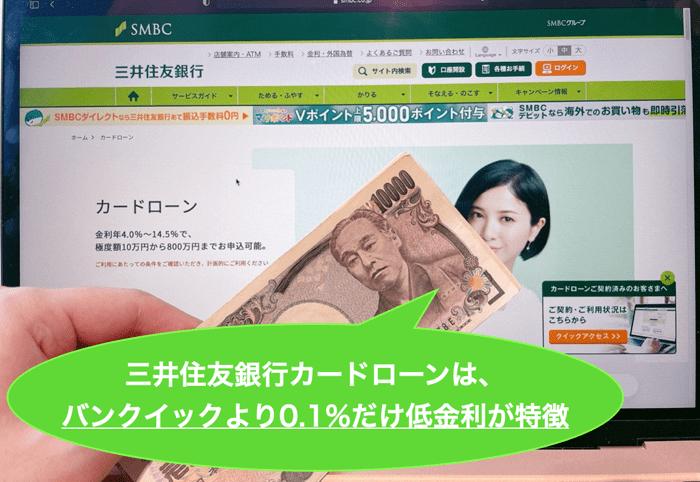 三井住友銀行カードローンでお金を借りるメリットとデメリット